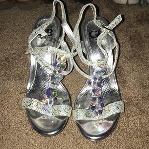 Gianni Bini silver high heels